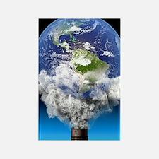 Global warming, conceptual image Rectangle Magnet