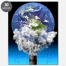 Global warming, conceptual image Puzzle