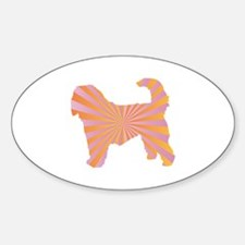 Otterhound Rays Oval Decal