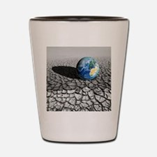 Global warming, conceptual artwork Shot Glass