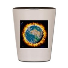 Global warming Shot Glass