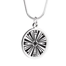 Tattoo Silver Round Necklace