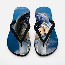 Global warming, conceptual image Flip Flops