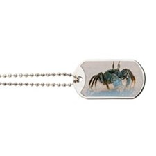 Ghost crab on sand Dog Tags