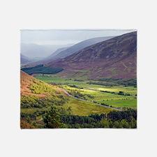 Glen Clunie, Scotland, UK Throw Blanket