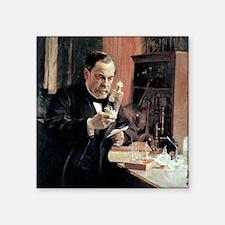 "Louis Pasteur, French micro Square Sticker 3"" x 3"""