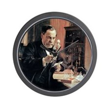 Louis Pasteur, French microbiologist Wall Clock