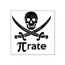 "Pirate Square Sticker 3"" x 3"""