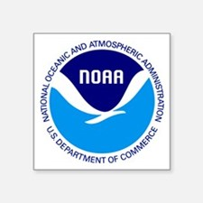 """NOAA Square Sticker 3"""" x 3"""""""