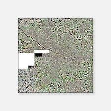 "Glasgow, UK, aerial image Square Sticker 3"" x 3"""