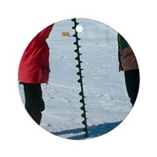 Glaciology research Round Ornament