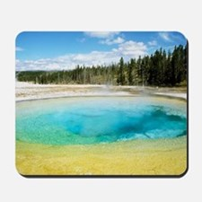 Geothermal pool in Yellowstone National  Mousepad