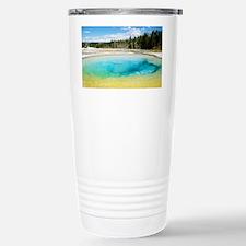 Geothermal pool in Yellowstone  Travel Mug