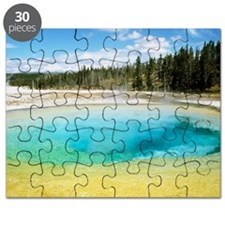 Geothermal pool in Yellowstone National Par Puzzle