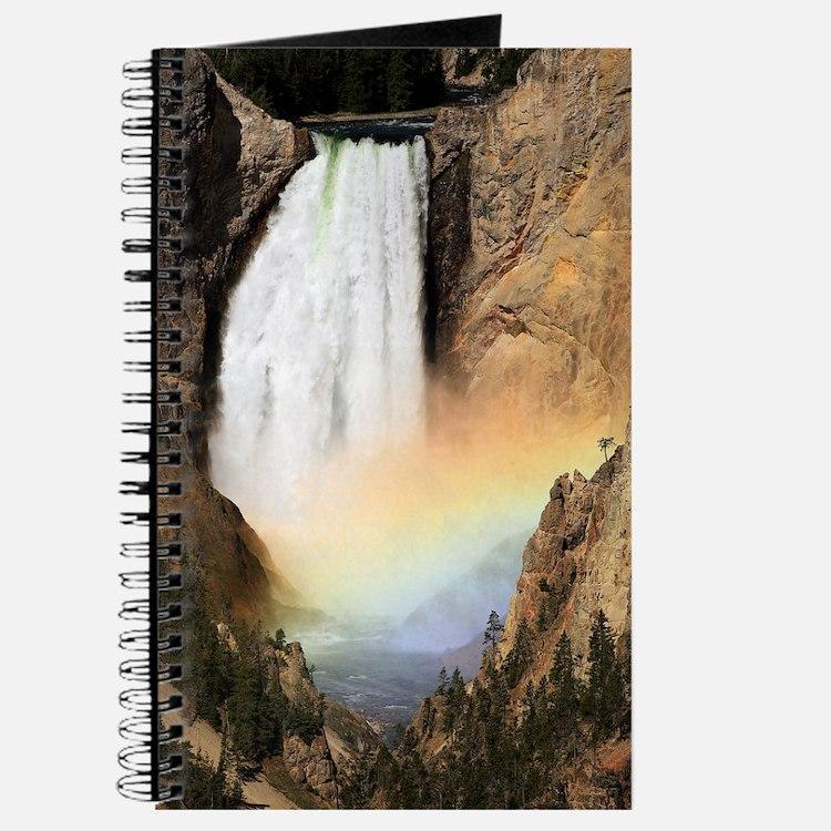 Lower Yellowstone Falls and spray rainbow Journal