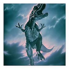 """Giant Allosaurus dinosau Square Car Magnet 3"""" x 3"""""""
