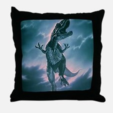 Giant Allosaurus dinosaur Throw Pillow