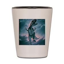 Giant Allosaurus dinosaur Shot Glass