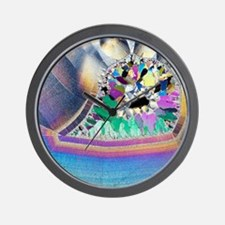 Geode in thin section Wall Clock