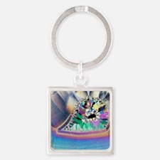 Geode in thin section Square Keychain
