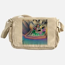 Geode in thin section Messenger Bag