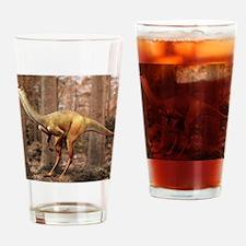 Gallimimus dinosaur Drinking Glass