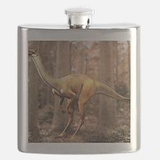 Gallimimus dinosaur Flask