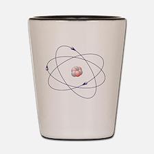 Lithium, atomic model Shot Glass