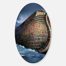 Literary ark, conceptual artwork Sticker (Oval)