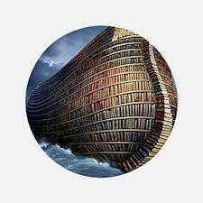 """Literary ark, conceptual artwork 3.5"""" Button"""