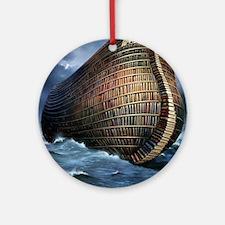 Literary ark, conceptual artwork Round Ornament