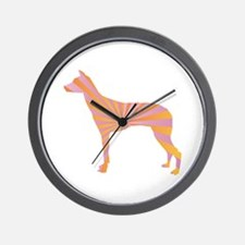 Inca Orchid Rays Wall Clock