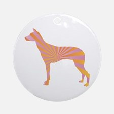 Inca Orchid Rays Ornament (Round)