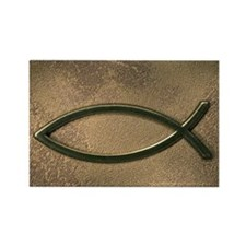 Jesus fish symbol Rectangle Magnet