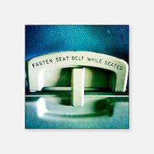 """Fasten Seatbelt Square Sticker 3"""" x 3"""""""
