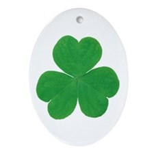 SHAMROCK Oval Ornament