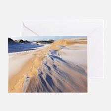 Frost covered sand dunes Greeting Card