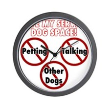 Give my service dog space Wall Clock