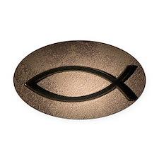 Jesus fish symbol Oval Car Magnet
