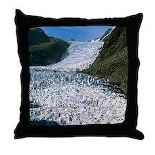 Fox Glacier, New Zealand Throw Pillow