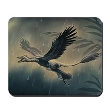 Four-winged dinosaur Mousepad