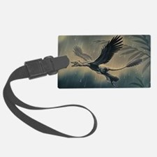 Four-winged dinosaur Luggage Tag