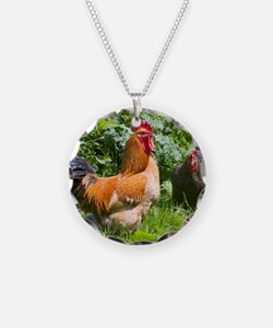 Free-range chickens Necklace