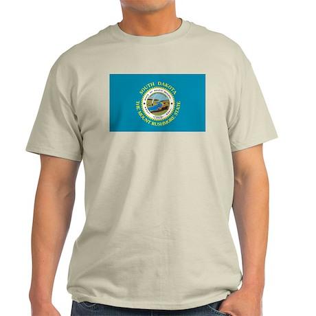 South Dakota Flag Light T-Shirt