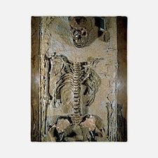 Fossilised skeleton of Homo erectus boy Twin Duvet