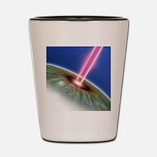 Laser eye surgery, computer artwork Shot Glass