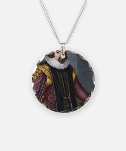Francis Bacon (1561-1626) Necklace Circle Charm