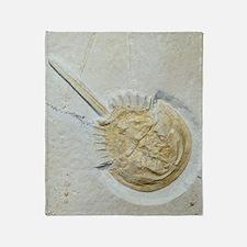 Fossilised horseshoe crab Throw Blanket