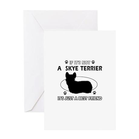 skye TERRIER designs Greeting Card