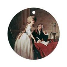 Lavoisier and his wife, 1788 Round Ornament